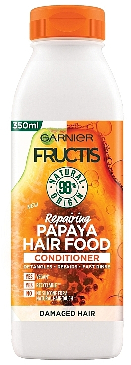 "Balsamo per capelli rivitalizzante ""Papaya"" - Garnier Fructis Repairing Papaya Hair Food Conditioner"