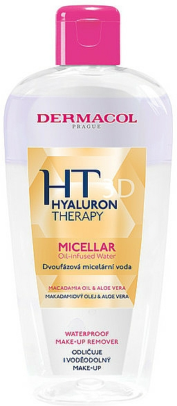 Acqua micellare bifasica - Dermacol Hyaluron Therapy 3d Micellar Oil-Infused Water — foto N1