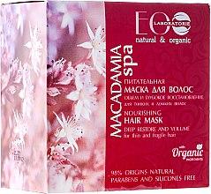 """Profumi e cosmetici Maschera nutriente per capelli """"Volume e recupero profondo"""" - Eco Laboratorie Macadamia SPA Hair Mask"""