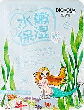 Profumi e cosmetici Maschera viso in tessuto antietà all'estratto di alghe e acido ialuronico - BioAqua Seaweed Extract Hyaluronic Acid Mask