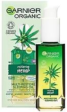 Profumi e cosmetici Olio di canapa rivitalizzante da notte - Garnier Bio Multi-Repair Sleeping Oil