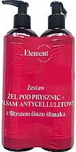 Profumi e cosmetici Set - _Element Snail Slime Filtrate (sh/gel/150ml+b/balm/150ml)