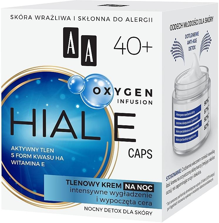 Crema viso all'ossigeno 40+, da notte - AA Oxygen Infusion Hial E Caps Night Cream — foto N2