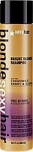 Shampoo per capelli chiari - SexyHair Blonde Sulfate-Free Bright Violet Shampoo — foto N1