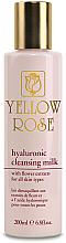 Profumi e cosmetici Latte detergente all'acido ialuronico - Yellow Rose Hyaluronic Cleansing Milk