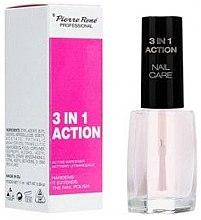 Profumi e cosmetici Smalto incolore indurente - Pierre Rene 3 in 1 Action Nail Care