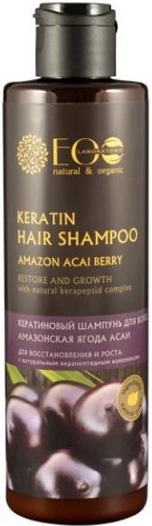 Shampoo alla cheratina ed estratto di bacche di acai - Eco Laboratorie Keratin Hair Shampoo Amazon Acai Berry