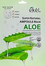 Profumi e cosmetici Maschera in tessuto all'estratto di aloe - Ekel Super Natural Ampoule Mask Aloe