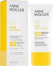 Profumi e cosmetici BB-crema solare - Anne Moller BB Age Sun Resist Perfecting Cream SPF50+