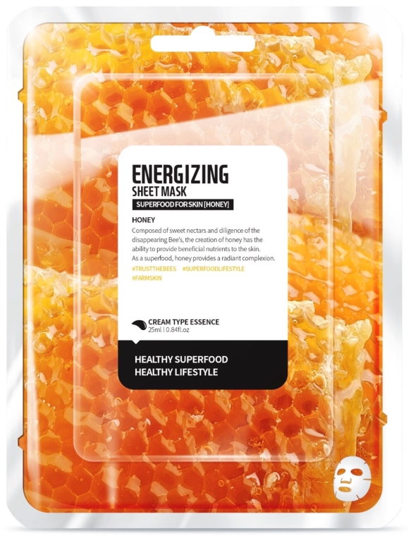 "Maschera in tessuto energizzante ""Miele"" - Superfood For Skin Energizing Sheet Mask"