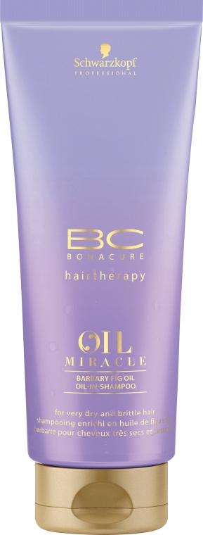Shampoo rigenerante con olio e cheratina - Schwarzkopf Professional Bonacure Oil Miracle Barbary Fig Oil Shampoo
