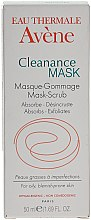 Profumi e cosmetici Maschera gommage per la pulizia profonda della pelle problematica - Avene Exfoliating Absorbing Cleanance Mask-Scrub