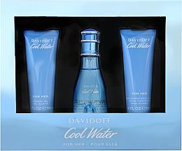 Profumi e cosmetici Davidoff Cool Water Woman - Set (edt/50ml + b/lot/50ml + sh/gel/50ml)