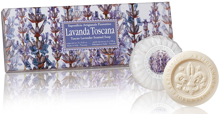 """Set di saponi """"Lavanda"""" - Saponificio Artigianale Fiorentino Tuscan Lavender Scented Soap"""