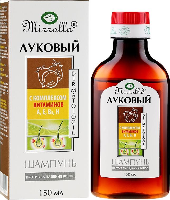 Shampoo alla cipolla con complesso di vitamine - Mirrolla