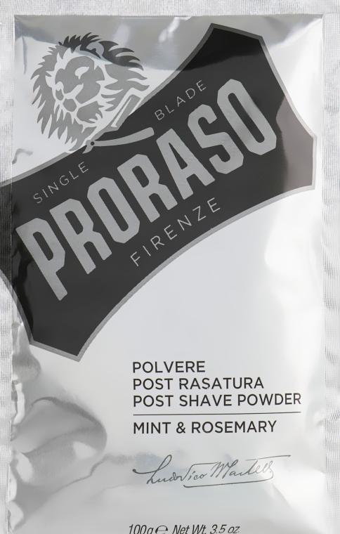Polvere dopobarba con menta e rosmarino - Proraso Mint & Rosemary Post Shave Powde