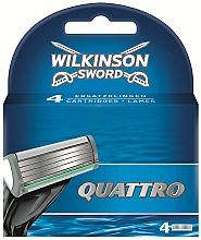 Profumi e cosmetici Cartucce di ricambio, 4 pezzi - Wilkinson Sword Quattro Cartridge Razor Blades