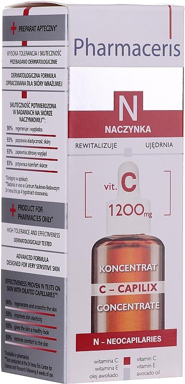 Concentrato levigante viso, da notte, con vitamina C 1200 mg - Pharmaceris N Serum with Vit. C 1200mg Strengtening and Smoothing