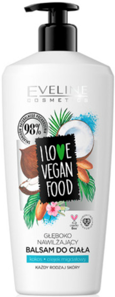 "Balsamo corpo ""Cocco e mandorle"" - Eveline I Love Vegan Food Body Balm"