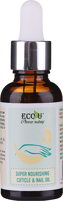 Olio nutriente per cuticole e unghie - Eco U Super Nourishing Cuticle & Nail Oil
