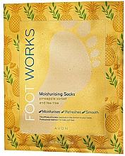 Profumi e cosmetici Maschera piedi idratante all'ananas e tea tree - Avon Foot Works Mask For Legs