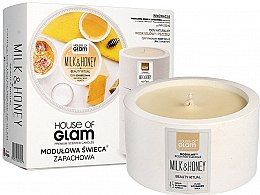Profumi e cosmetici Candela profumata - House of Glam Milk & Honey Beauty Ritual Candle