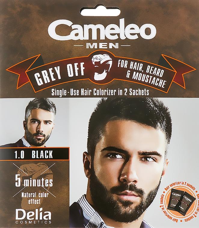 Colorante monouso GREY OFF per capelli, barba e baffi - Delia Cameleo Men