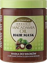 Profumi e cosmetici Maschera biologica con olio di macadamia per capelli - GlySkinCare Macadamia Oil Hair Mask