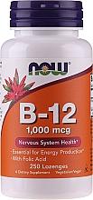 Profumi e cosmetici Metilcobalamina, vitamina Metil B-12, con acido folico, 1000 mcg, caramelle - Now Foods