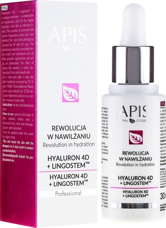 Emulsione viso idratante - APIS Professional 4D Hyaluron + Lingostem