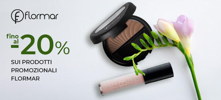 Sconti fino al -20% sui prodotti promozionali Flormar. I prezzi sul nostro sito comprendono gli sconti