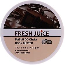 "Profumi e cosmetici Burro corpo ""Cioccolato e marzapane"" - Fresh Juice Body Butter Chocolate & Marzipan With Shea Butter"
