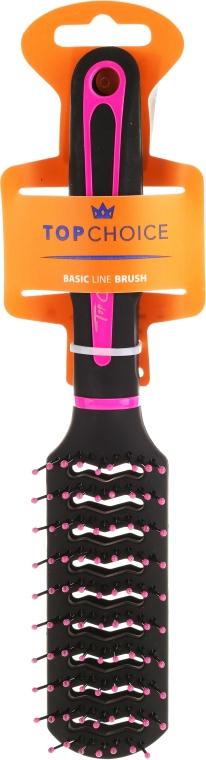 """Spazzola per capelli """"Neon"""", 63664, nero con rosa - Top Choice — foto N1"""