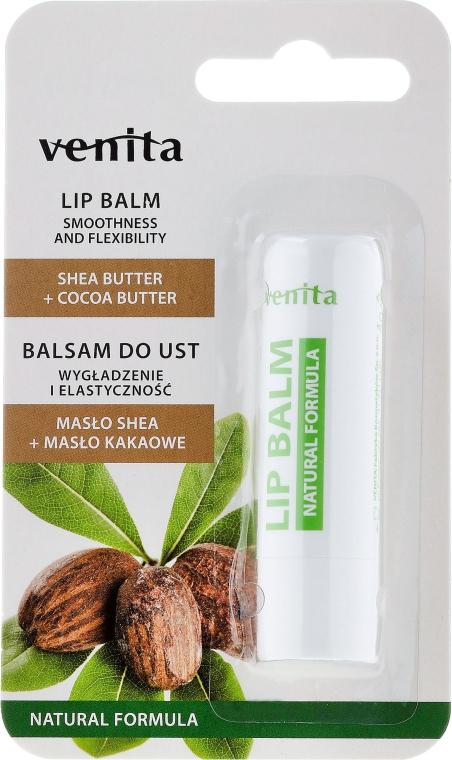 """Balsamo labbra """"Burro di karité e cacao"""" - Venita Lip Balm Shea Butter + Cocoa Butter"""