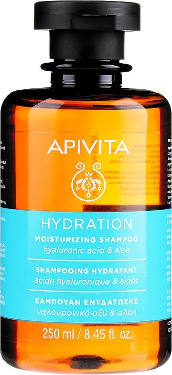 Shampoo idratante con acido ialuronico e aloe - Apivita Moisturizing Shampoo With Hyaluronic Acid & Aloe