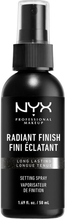 Spray fissante trucco con effetto brillante - NYX Professional Makeup Radiant Finish Setting Spray Long Lasting