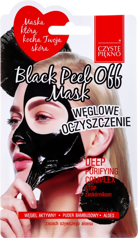 "Maschera viso ""Black"" - Czyste Piekno Black Peel Off Mask"