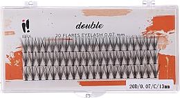 Profumi e cosmetici Ciglia finte, C 13 mm - Ibra 20 Flares Eyelash Knot-fre Naturals