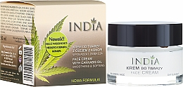 Profumi e cosmetici Crema viso con olio di canapa - India Face Cream With Cannabis