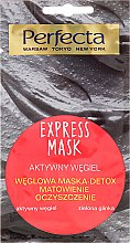 Profumi e cosmetici Maschera viso al carbone e argilla verde - Perfecta Express Mask