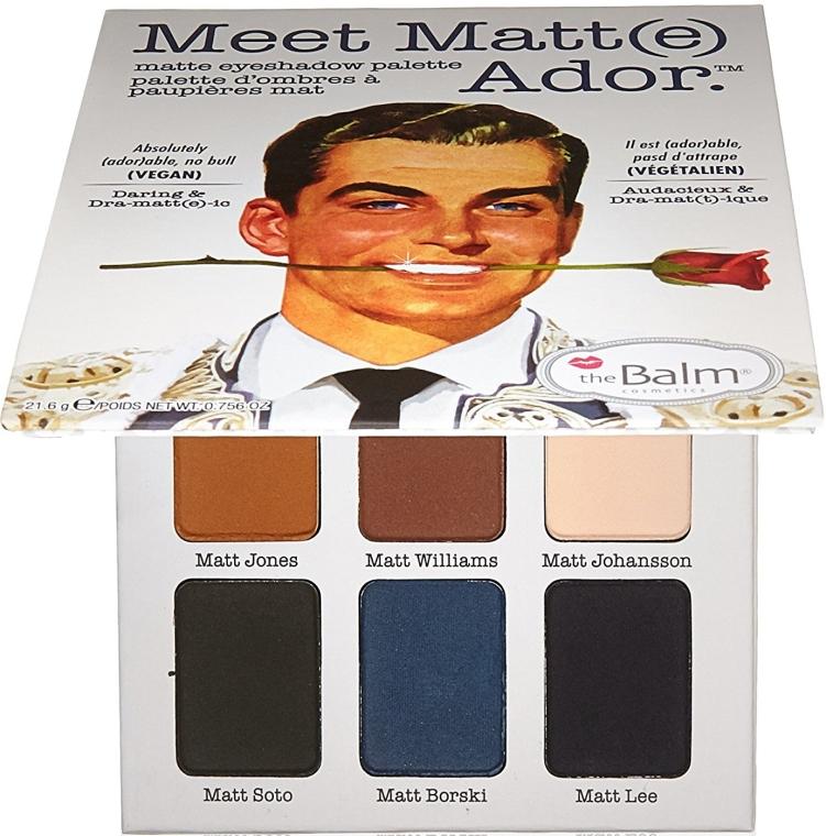 Palette ombretti - TheBalm Meet Matt(e) Ador Matte Eyeshadow Palette — foto N1