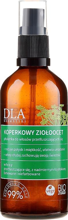 Condizionante con aceto di mele ed erbe per capelli grassi - DLA
