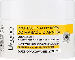 """Profumi e cosmetici Crema per massaggio """"Arnica"""" - Lirene Professional Massage Cream"""