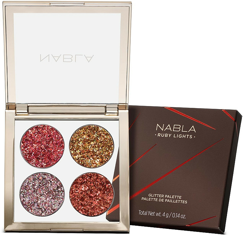 Palette ombretti - Nabla Ruby Lights Collection Glitter Palette