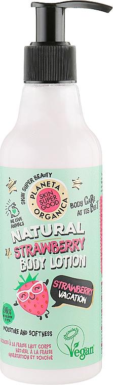 """Lozione corpo """"Vacanza alla fragola"""" - Planeta Organica Natural Body Lotion Strawberry Vacation"""