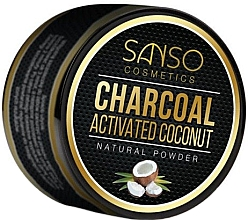 Profumi e cosmetici Polvere dentale sbiancante naturale - Sanso Cosmetics Charcoal Activated Coconut Natural Powder