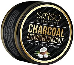 Profumi e cosmetici Polvere naturale sbiancante denti - Sanso Cosmetics Charcoal Activated Coconut Natural Powder
