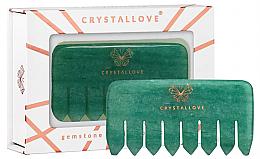 Profumi e cosmetici Pettine per massaggio del cuoio capelluto in avventurina - Crystallove Aventurine Comb