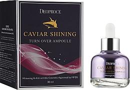 Profumi e cosmetici Siero illuminante con estratto di caviale - Deoproce Caviar Shining Turn Over Ampoule