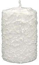 Profumi e cosmetici Candela decorativa bianca, 7,5x10 cm - Artman Christmas Candle White